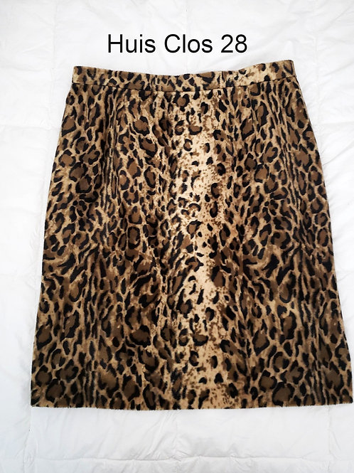 jupe crayon imprimé animal pencil skirt print size 28