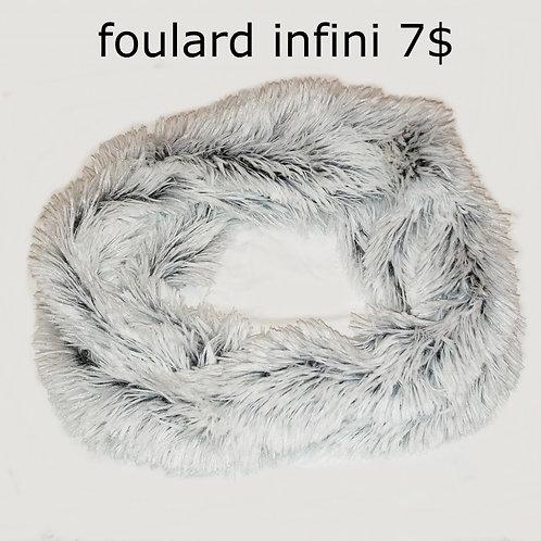 foulard blanc noir infini