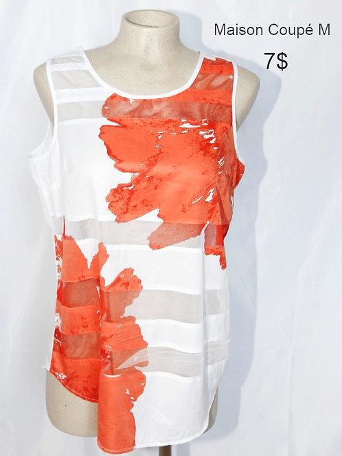 camisole orange blanche Maison Coupé médium