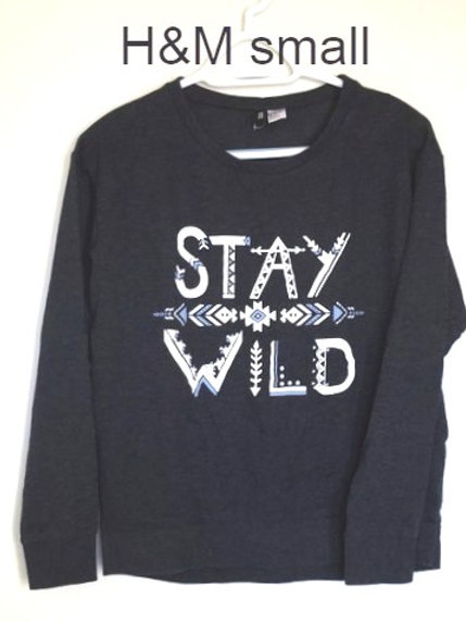 chandail H&M bleu small sweater