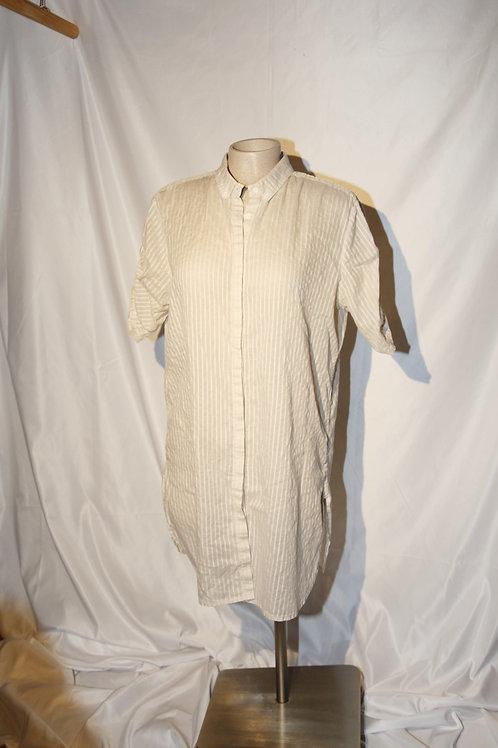 blouse tunique beige et crème 10 ans