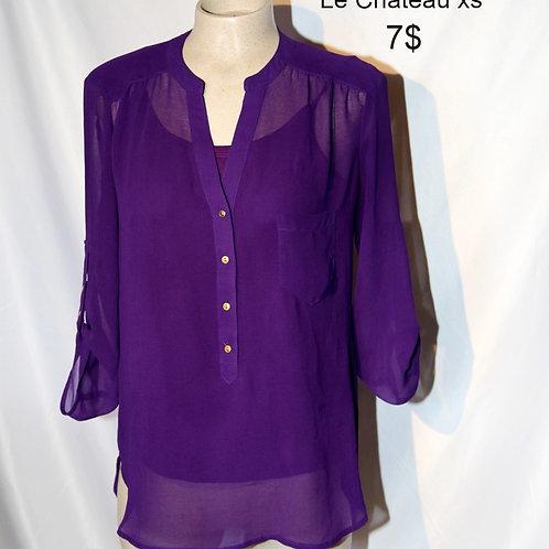 blouse translucide Le Château xs violet