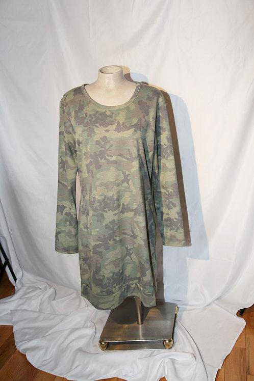 robe chandail camouflage large vert