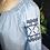 Thumbnail: blouse boho blue denim broderie