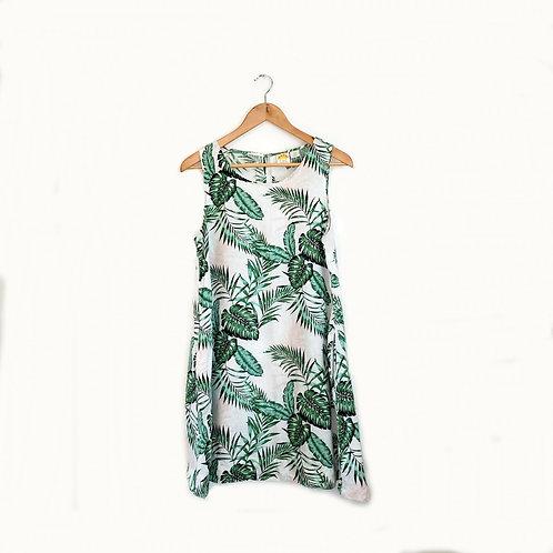 robe en lin avec poches C&C California médium