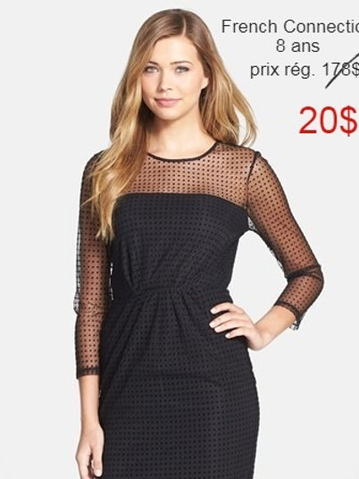 vente robe noire French Connection