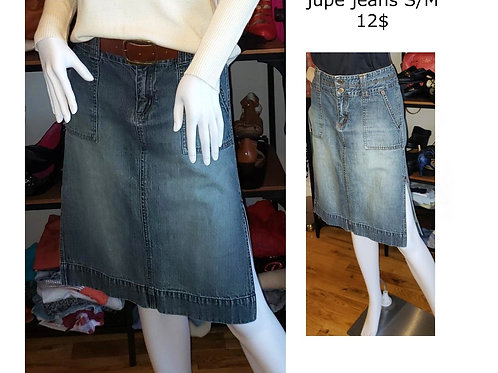 jupe midi en jeans médium 7-8 ans