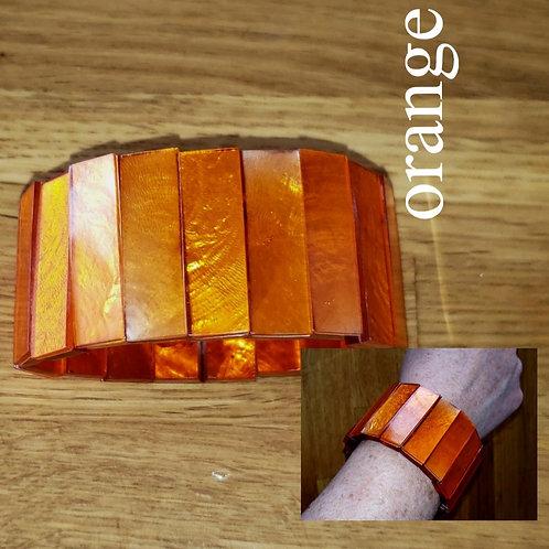bracelet orange élastique