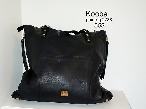 sacoche Kooba cuir noir