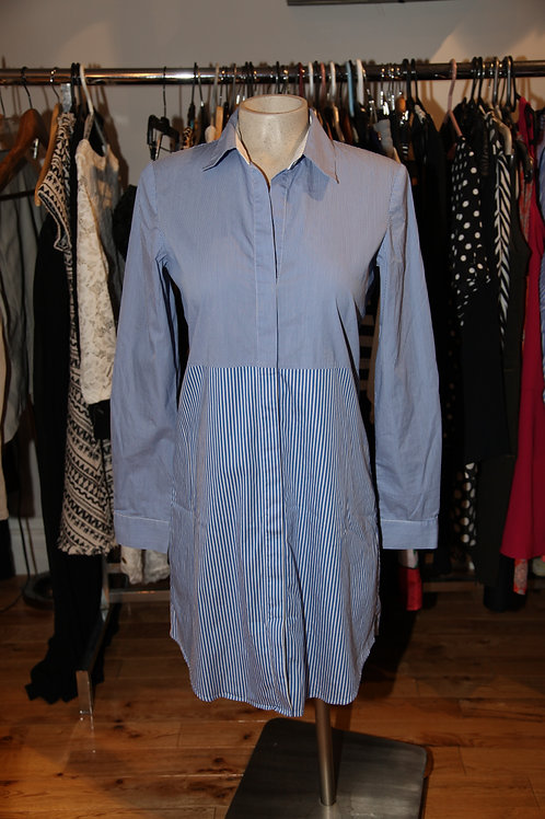 robe chemise rayée bleue 4 ans Theory xsmall shirt dress blue
