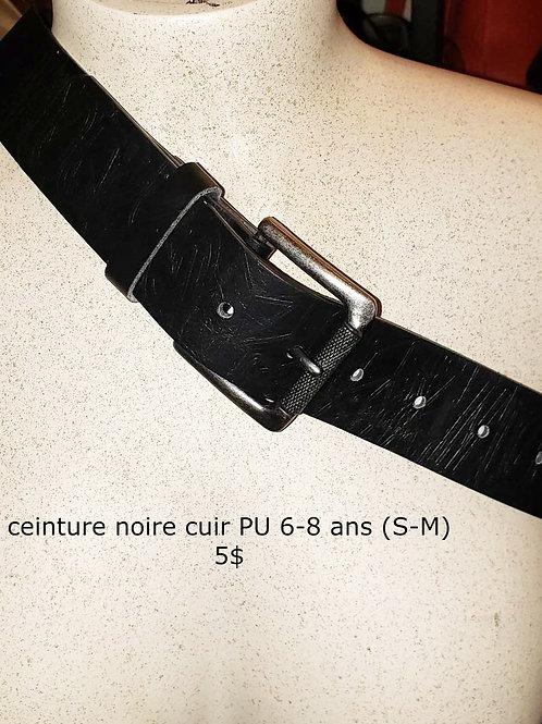 ceinture noire faux cuir small médium