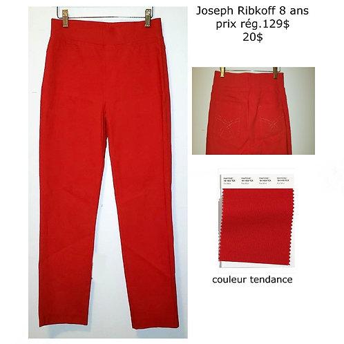 pantalons skinny rouge Joseph Ribkoff 8 ans
