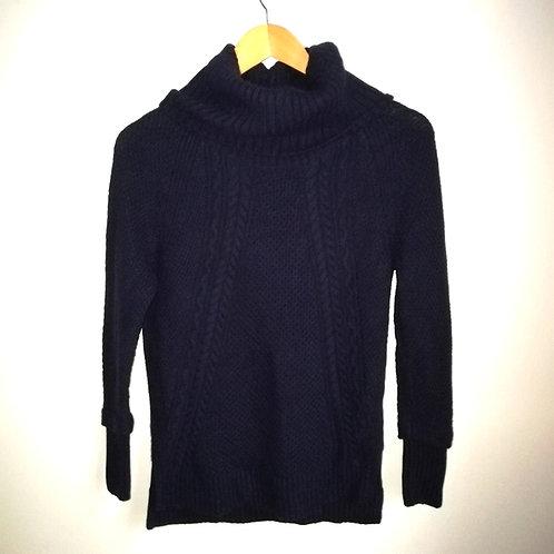 chandail tricot col roulé bleu marine médium J by Jasper Conran