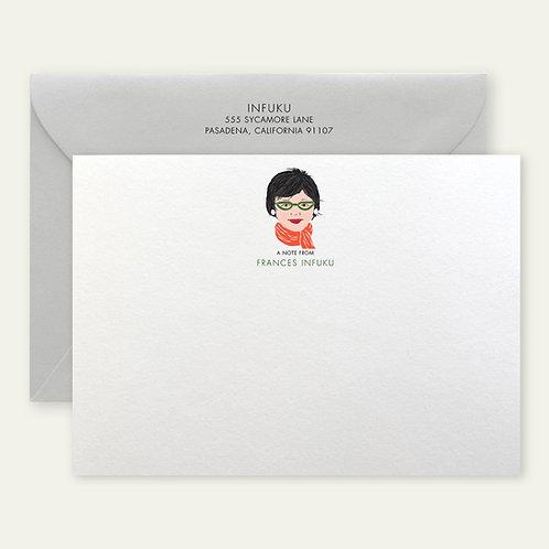 custom portrait personalized stationery
