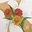 monogram initial X floral watercolor greeting card closeup