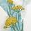 monogram initial Y floral watercolor greeting card closeup