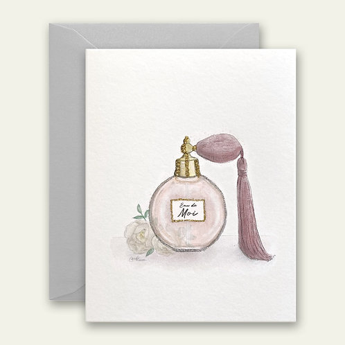 french perfume watercolor greeting card