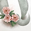 monogram initial Q quince flowers watercolor greeting card closeup