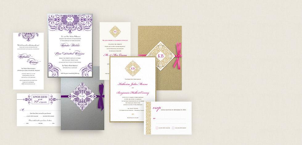 ready-to-order custom wedding invitations los angeles, new york