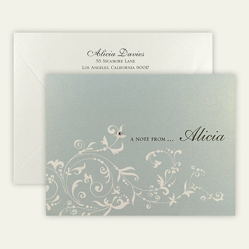flourish personalized note cards