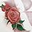 monogram initial R rose watercolor greeting card closeup