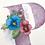 monogram initial P pansies watercolor greeting card closeup