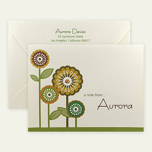 dandelions personalized note cards