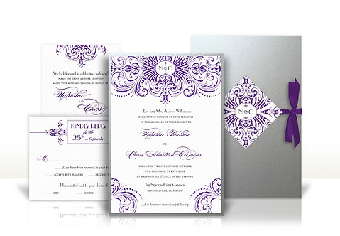 Gatsby custom wedding invitation