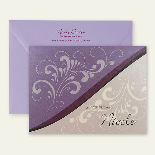 puebla brush strokes personalized note cards