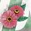 monogram initial Z floral watercolor greeting card closeup