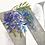 monogram initial W wisteria watercolor greeting card closeup