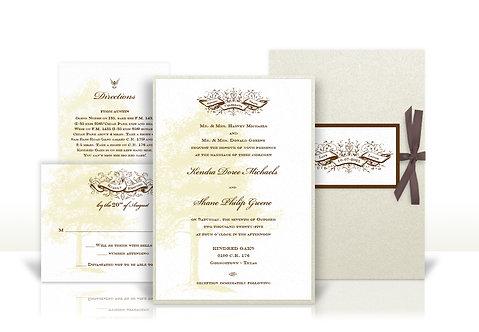 rustic ranch style custom wedding invitation