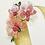 monogram initial O orchid watercolor greeting card closeup