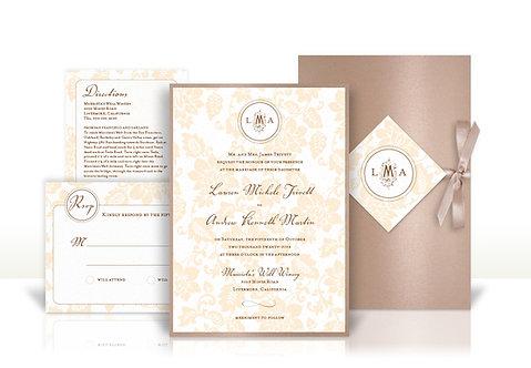 napa winery custom wedding invitation