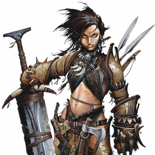 Amiri the Barbarian - Pathfinder Kingmak