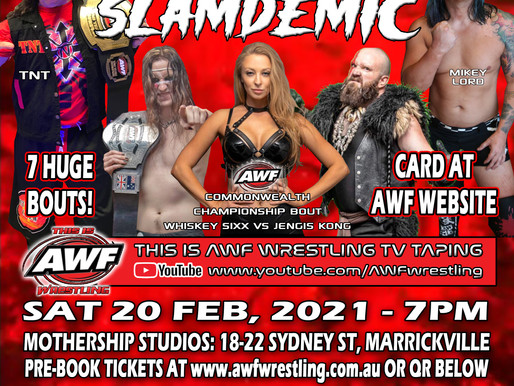 AWF Pro-Wrestling Slamdemic Poster & 2 Bouts Announced!