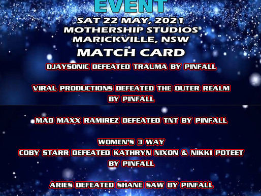 AWF The Mayn Event Live Event Results