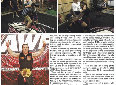 AWF School of Pro-Wrestling Article in Canterbury Bankstown Torch Newspaper