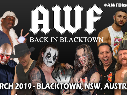 AWF Back In Blacktown 2019 Available now at AWF Pivotshare for $9.99 AU