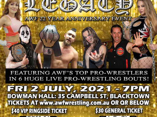 AWF Legacy 22 Year Anniversary Event on Fri 2 July! Get your tickets at Today at AWF Website!