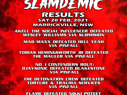 AWF Slamdemic Live Events Results