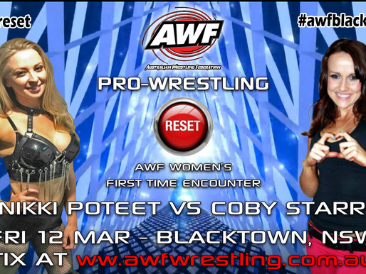Nikki Poteet set to face Coby Starr in first time encounter at AWF Reset on 12 Mar in Blacktown