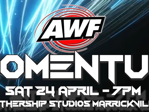 AWF Pro-Wrestling Momentum Digital Event available to watch now at AWF Pivotshare for $15