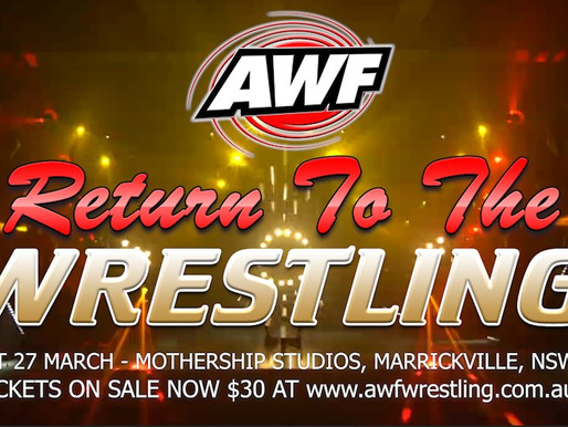 AWF Return To The Wrestling Digital Event now online for Purchase for $15 at AWF Pivotshare