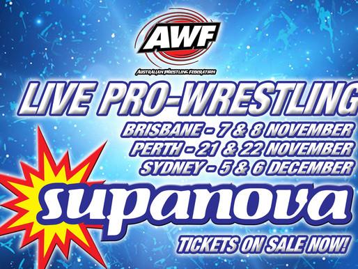 AWF Wrestling @ Supanova Dates Update 2020