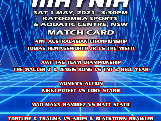 AWF Blue Mountains Maynia 1 May Card Announced