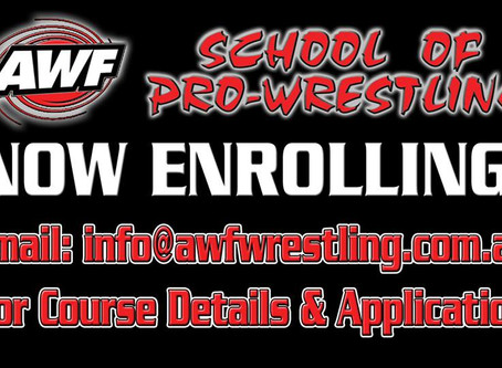 Enroll now for AWF Pro-Wrestling Training Courses starting September