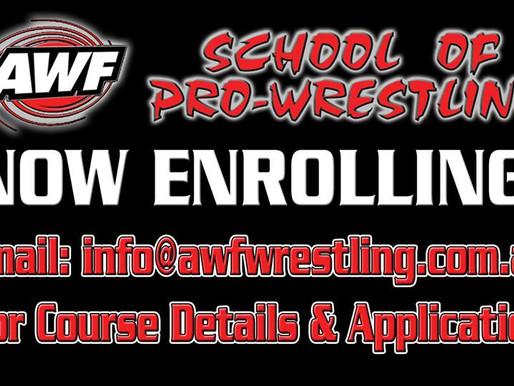 Enroll now for AWF Pro-Wrestling Training Courses starting September