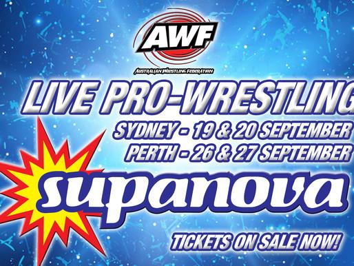 AWF Wrestling at Supanova Sydney & Perth in September