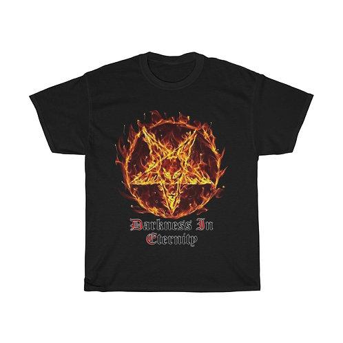 Darkness In Eternity Burning Pentagram T-Shirt